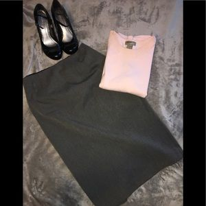 📁Express Gray Pencil Skirt 2